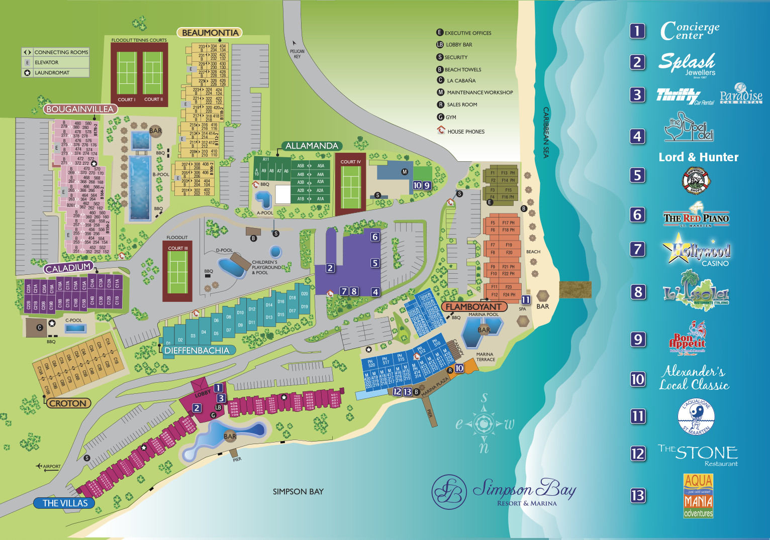 Site Plan Simspon Bay resort Sint Maarten